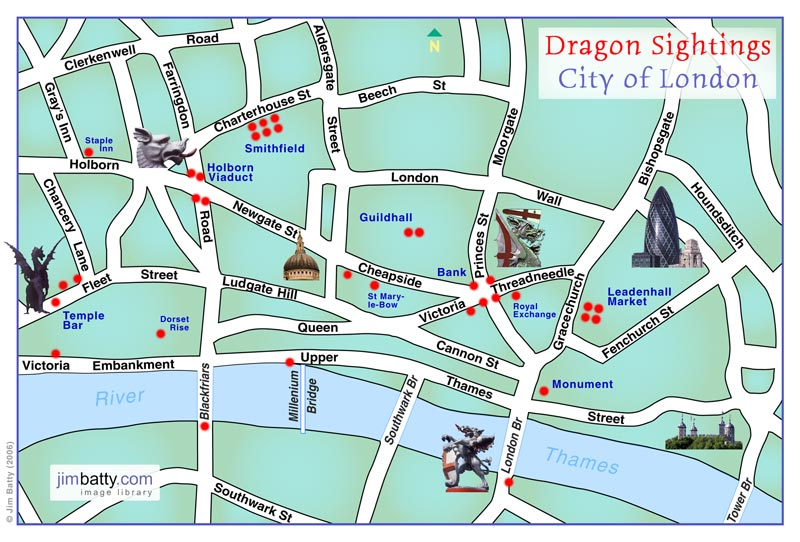 London Dragon Travel Photo Safari Article by Jim Batty – London City Map